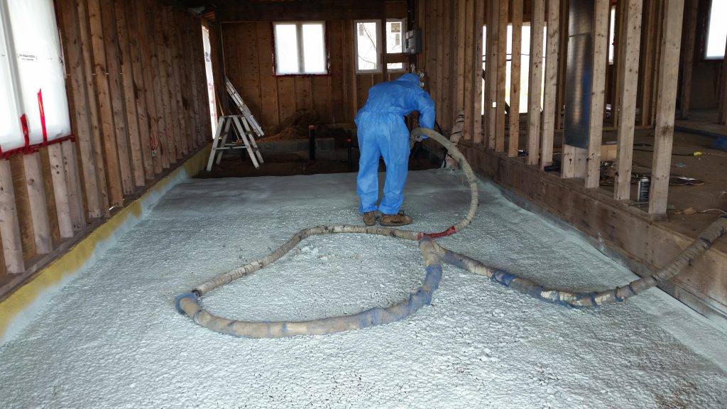 Under Slab Spray Foam For Cold Ontario Floors 171 Eco