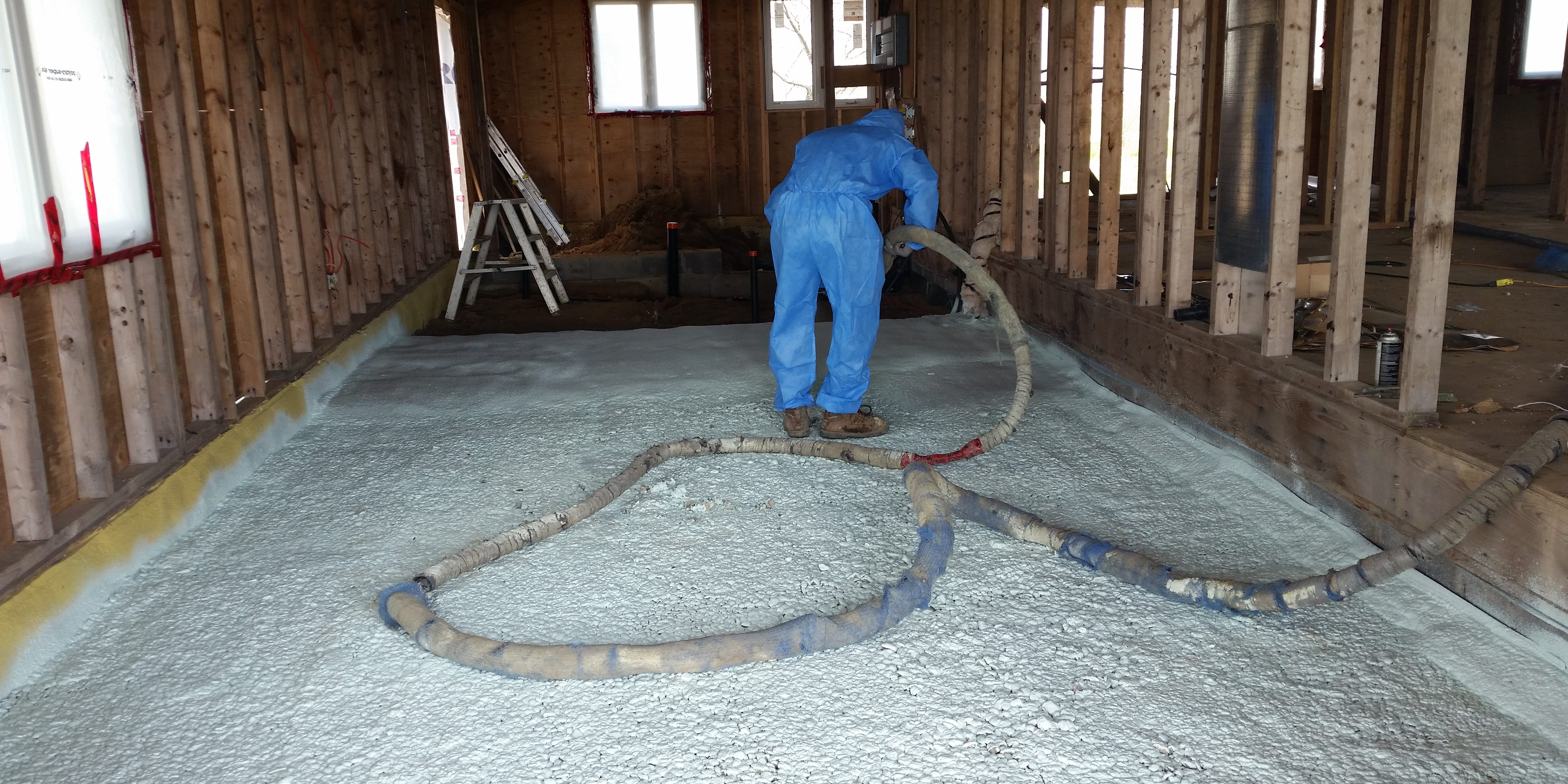 Under-Slab Spray Foam For Cold Ontario Floors « Eco